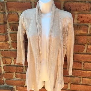 Anthropologie Angel of the North Linen Cardigan XS
